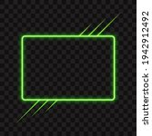 neon green rectangle frame with ... | Shutterstock .eps vector #1942912492