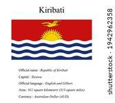 kiribati national flag  country'...   Shutterstock .eps vector #1942962358