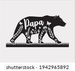 title  papa bear printable... | Shutterstock .eps vector #1942965892