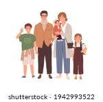 portrait of happy family with... | Shutterstock .eps vector #1942993522