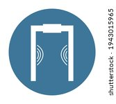 Blue Metal Detector Icon....