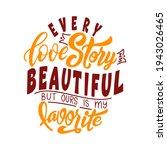 hand lettering typography... | Shutterstock .eps vector #1943026465