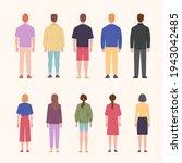 standing men and women back... | Shutterstock .eps vector #1943042485