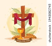 good friday banner and poster....   Shutterstock .eps vector #1943082745
