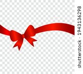 red satin ribbon with bow ... | Shutterstock .eps vector #1943136298