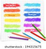 set of colored doodle sketch...   Shutterstock .eps vector #194315675