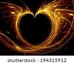 Gold Heart Glowing Fractal...