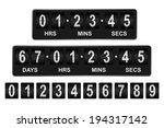 mechanical countdown timer.... | Shutterstock .eps vector #194317142