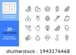 line icons about fruit and...   Shutterstock .eps vector #1943176468