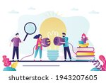 business people connecting plug ...   Shutterstock .eps vector #1943207605