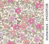 vintage seamless floral pattern.... | Shutterstock .eps vector #1943209138