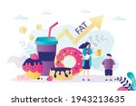 nutritionist recommending to... | Shutterstock .eps vector #1943213635