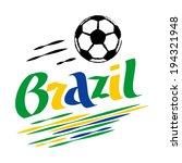 brazil football | Shutterstock .eps vector #194321948
