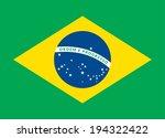 flat design green soccer field  ... | Shutterstock . vector #194322422