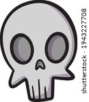 Haloween Pirate Skull Head With ...