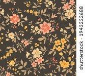 cute seamless vector floral... | Shutterstock .eps vector #1943232688