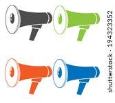 set silhouette speaker. vector... | Shutterstock .eps vector #194323352