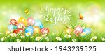 easter banner with colorful...   Shutterstock . vector #1943239525