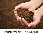 Handful Of Rich Brown Soil