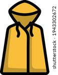 icon of raincoat. editable bold ...