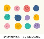 round abstract faces with... | Shutterstock .eps vector #1943320282