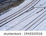 Railway tracks and rack-wheels of Gornergrat railway at Zermatt, Switzerland. Photo taken March 23rd, 2021.