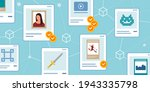 nft marketplace with crypto art ... | Shutterstock .eps vector #1943335798