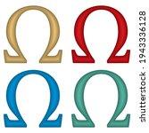 Omega Greek Symbol Vector...