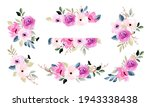 pretty pink flower arrangement...   Shutterstock .eps vector #1943338438