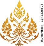 thai traditional pattern  thai... | Shutterstock .eps vector #1943338525