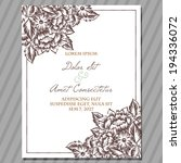 wedding invitation cards with... | Shutterstock . vector #194336072