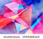 abstract geometric watercolor... | Shutterstock . vector #1943368165