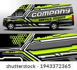 delivery van vector design. car ... | Shutterstock .eps vector #1943372365
