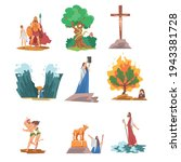 bible narratives with goliath ... | Shutterstock .eps vector #1943381728