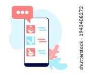 online pharmacy app concept of... | Shutterstock .eps vector #1943408272