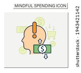 mindful spending color icon.... | Shutterstock .eps vector #1943421142