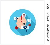 mindful spending flat icon.... | Shutterstock .eps vector #1943421565