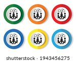 conference vector icons set on... | Shutterstock .eps vector #1943456275
