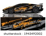 car wrap graphic racing... | Shutterstock .eps vector #1943492002