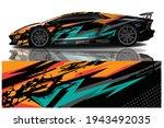 car wrap graphic racing... | Shutterstock .eps vector #1943492035