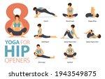 infographic 8 yoga poses for...   Shutterstock .eps vector #1943549875