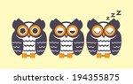 Owl Sleep Vector Design.