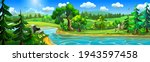 summer nature landscape with a... | Shutterstock .eps vector #1943597458