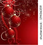 Christmas Abstraction. Vector...