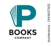 book p letter vector logo... | Shutterstock .eps vector #1943637502