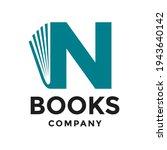 book n letter vector logo... | Shutterstock .eps vector #1943640142