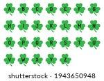 alphabet monograms  st. patrick ... | Shutterstock .eps vector #1943650948