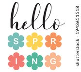 hello spring vector... | Shutterstock .eps vector #1943651518