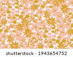 thick garden of painted flowers ... | Shutterstock .eps vector #1943654752