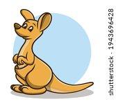Kangaroo Sticker Cartoon....